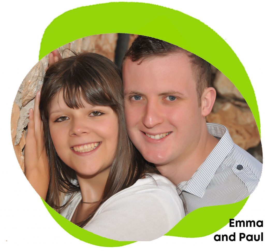Emma Beal with her fiance Paul