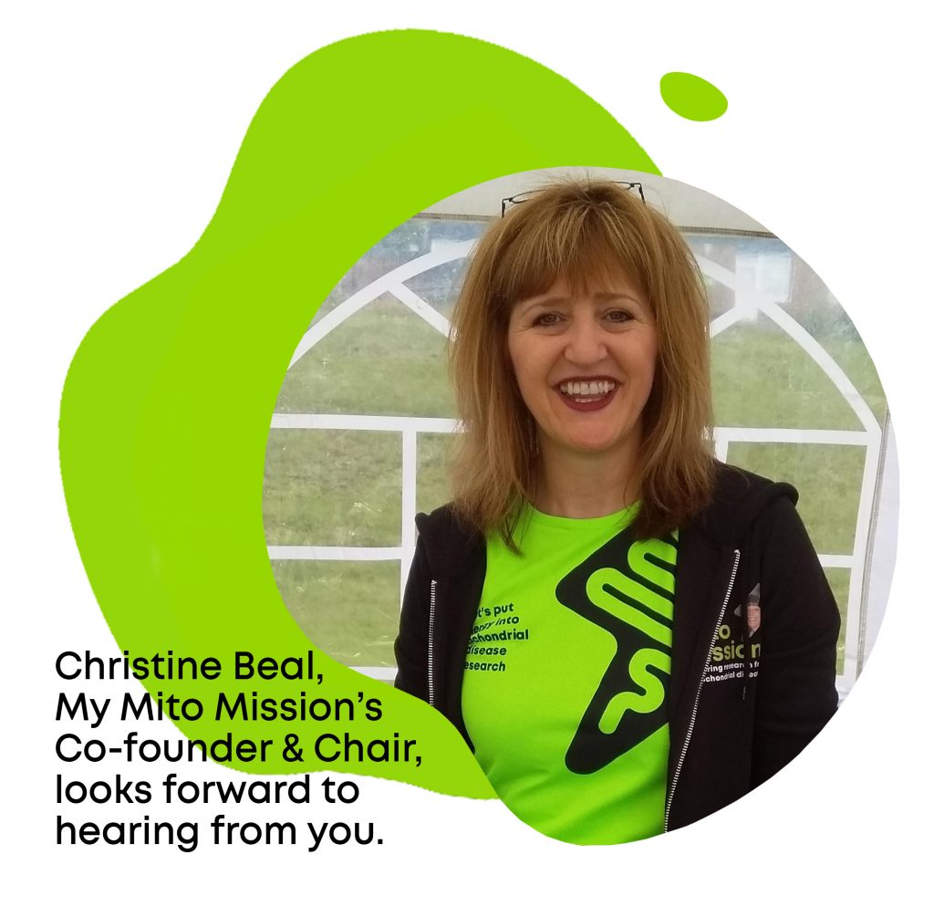 Christine Beal, Co-founder and Chair of My Mito Mission