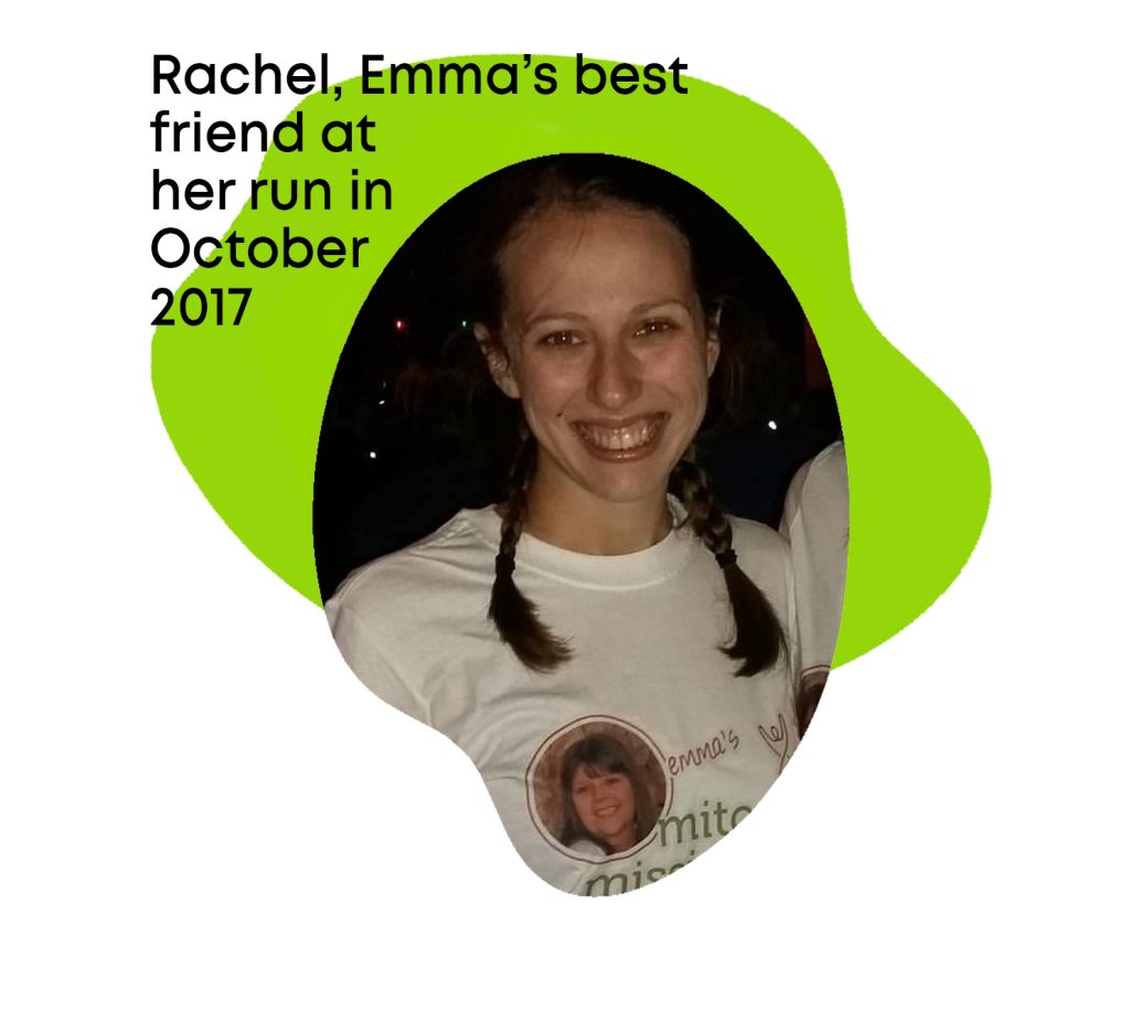 Rachel was Emma Beal's best friend and keen fundraiser for My Mito Mission