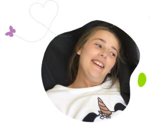 Laura with butterfly