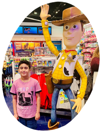 Aiman with Woody